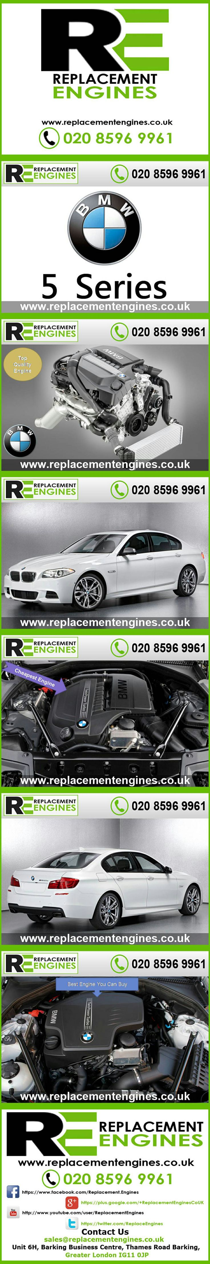 BMW 5 Series Engines for sale at the cheapest prices, we have low mileage used & reconditioned engines in stock now, ready to be delivered to anywhere in the UK or overseas, visit Replacement Engines website here.  http://www.replacementengines.co.uk/car-mk.asp?part=all-bmw-engine