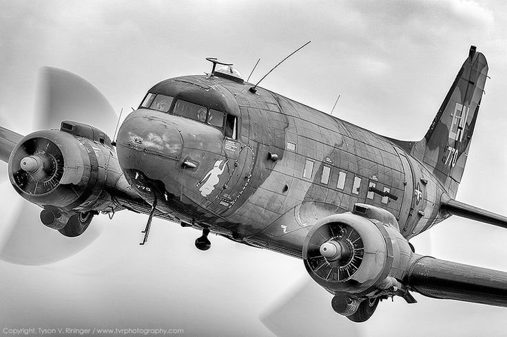 C-47  DAKOTA. Build by Douglas Aircraft. By the end of the war, the C‑47 had carried 22 million tons of goods, and flown 67 million passenger‑miles. The airliner's DC‑3s under the Air Transport Command logged on the average, 15‑19 hours a day in the air.