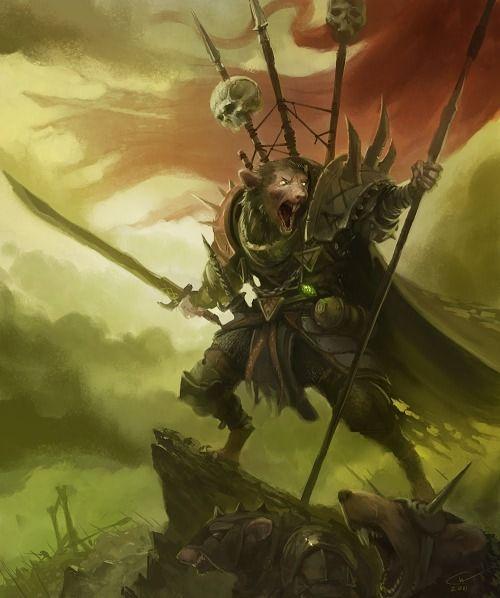 """""""Skaven Warlord"""" [Artist: Christer Wibert]"""
