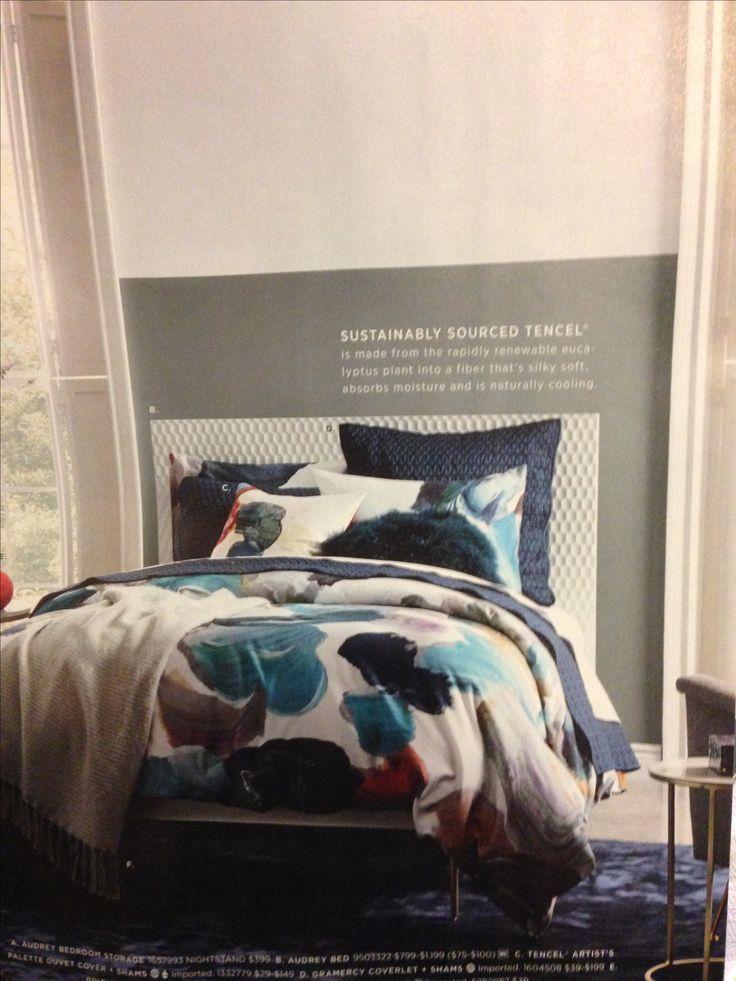 Add block paint to help elongate look of bed/headboard!! #westelm
