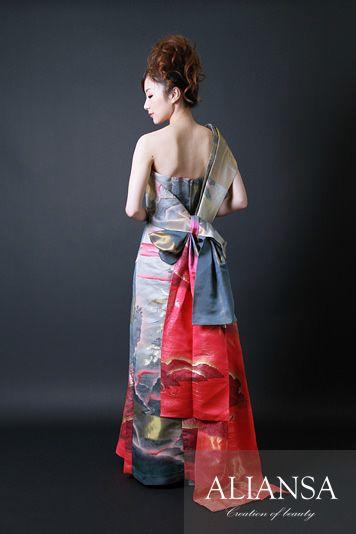 和ドレス・ウエディングドレスのドレスオーダー・レンタルドレスはアリアンサ|和ドレス・茜空|ドレスのレンタル オーダーメイド