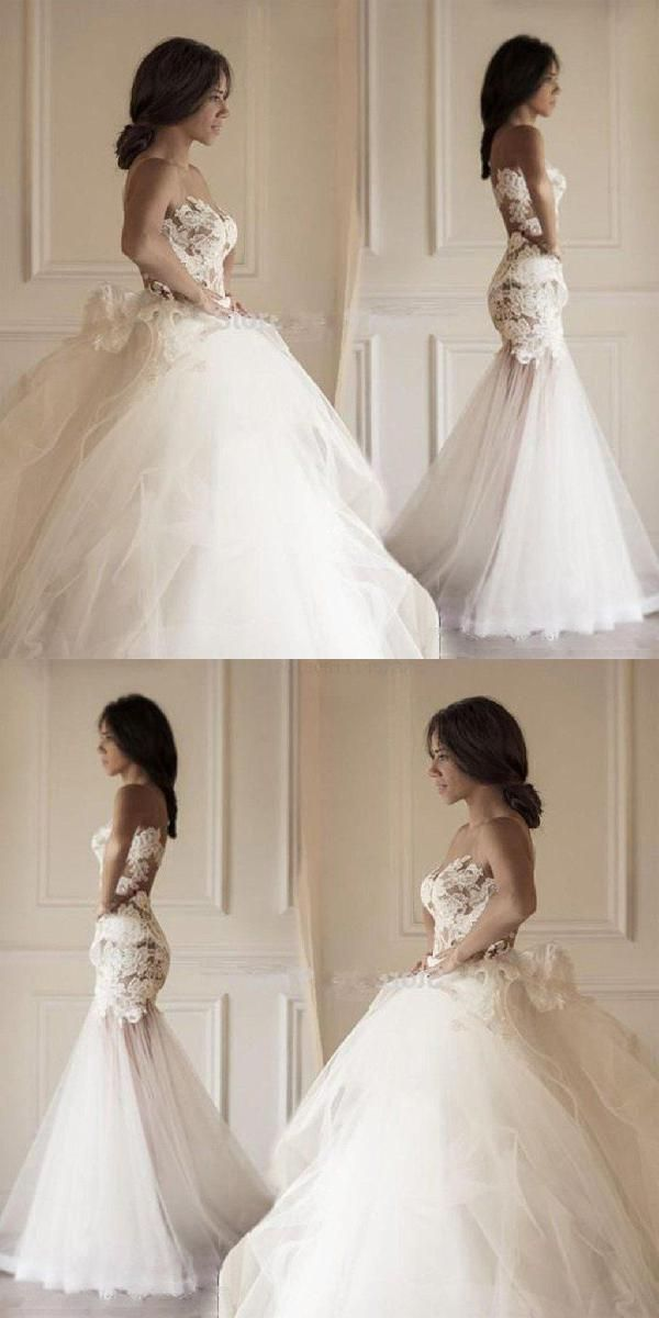 Wedding Dresses Mermaid Lace Wedding Dresses Two Pieces Wedding