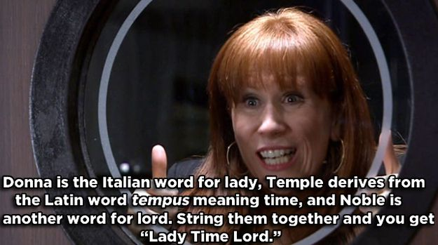 Donna Temple*-Noble - Doctor Who | 17 Famous Characters With Hidden Meanings In Their Names