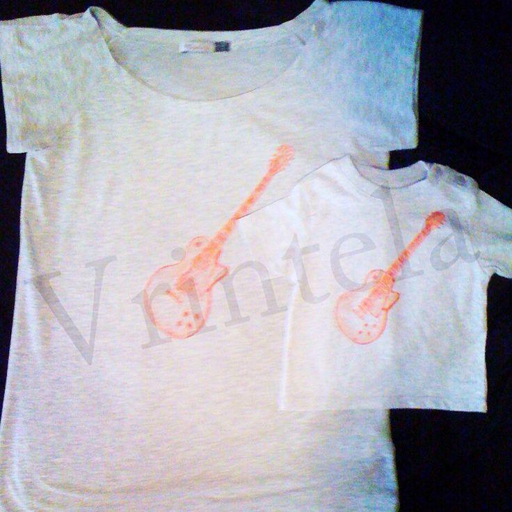Camisetas a juego para la mamá y el bebé. Haz tu pedido personalizado en vrintela@vrintela.com