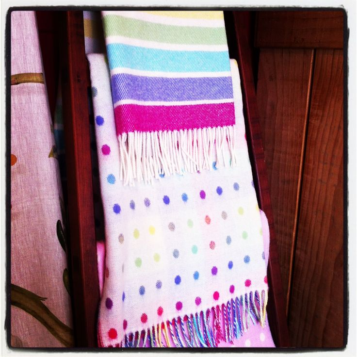 Colourful 100% wool baby blankets in stripes or reversible spots. The perfect size for your babies cot, crib or stroller. Wool helps to regulate a baby's temperate while they sleep which is very important to both baby and parents. Gorgeous Creatures sell a small but lovely range of children's gift and decor items.