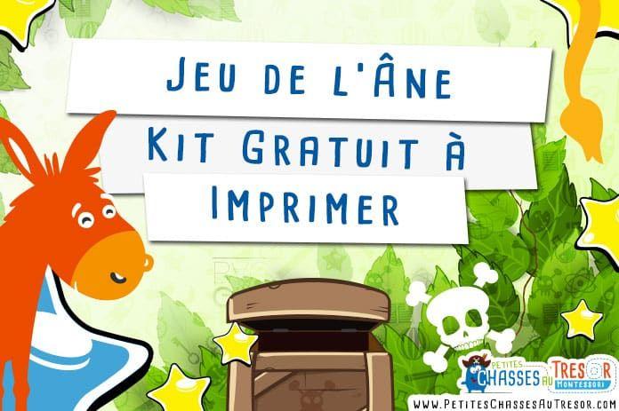 Jeu de l'Âne - Kit Gratuit à Imprimer + Bonus   Animation anniversaire enfant, Jeux enfant 4 ans ...