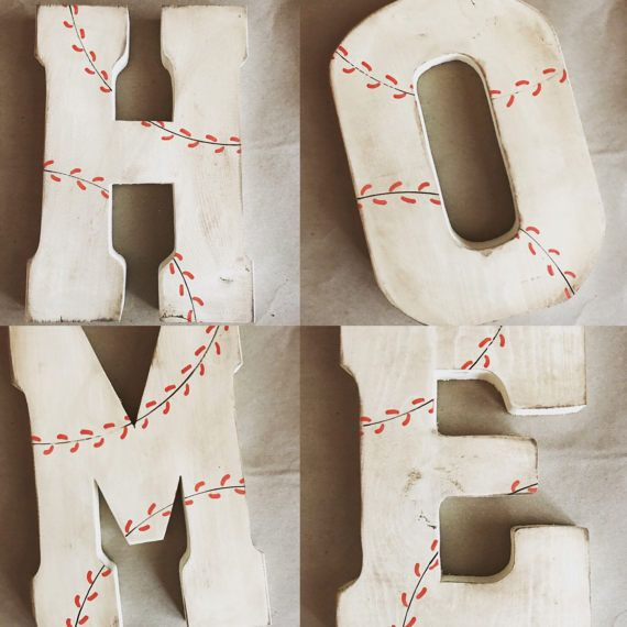 Baseball Wall Decor Baseball Letter Personalized Baseball