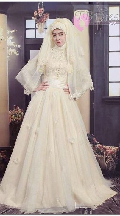 Winter A Line Elegant Luxurious All Sizes Natural Fall Spring Long Sleeves Wedding Dress