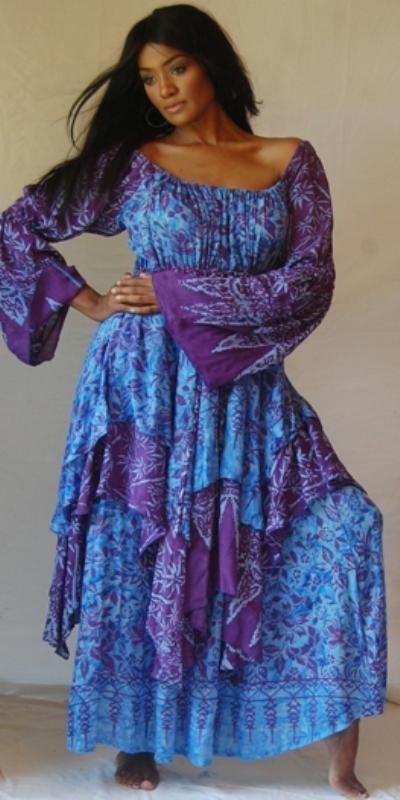 Periwinkle blue dress 2x women style