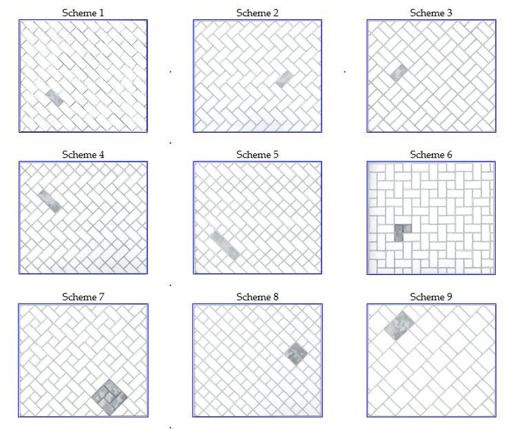 Some alternate tile patterns that may or may not be for Subway tile designs