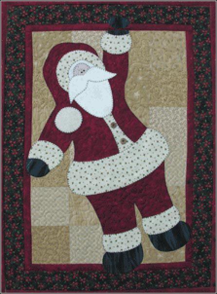 Hanging Santa Pattern from The Wooden Bear at KayeWood.com