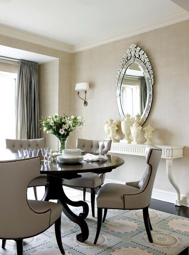30 small dining rooms and zones decorated with style for Small elegant dining table