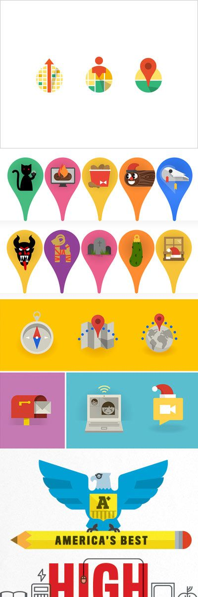 Flat Design / Flat icons / Flat illustration #flatdesign #icons