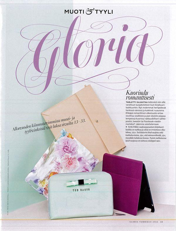 Envelope/iPad Case, Tan. GLORIA, January 2014