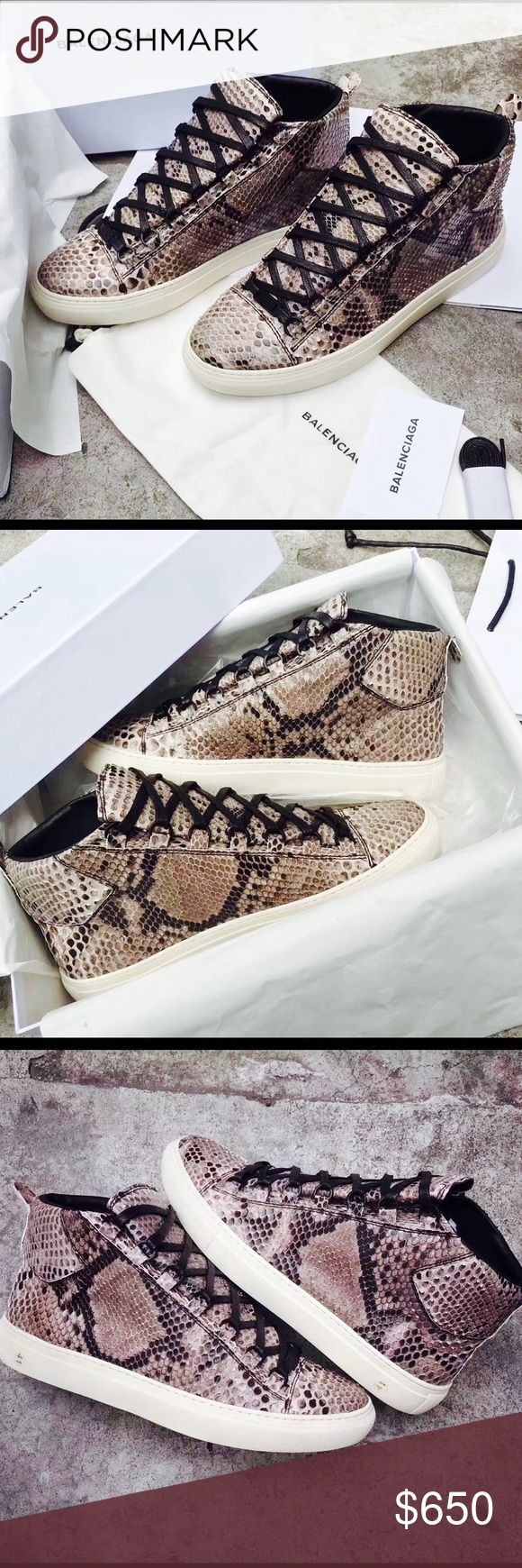 Men's Python belenciagas🔥🔥🔥😎🤙🏾 Brand new pair of men's python Belenciagas Real and authentic as well as real python 🐍 😎🔥🤤 comment before purchasing to check size and availability most sizes are available im also selling from my online store so your size may vary ‼️‼️‼️ Balenciaga Shoes Sneakers