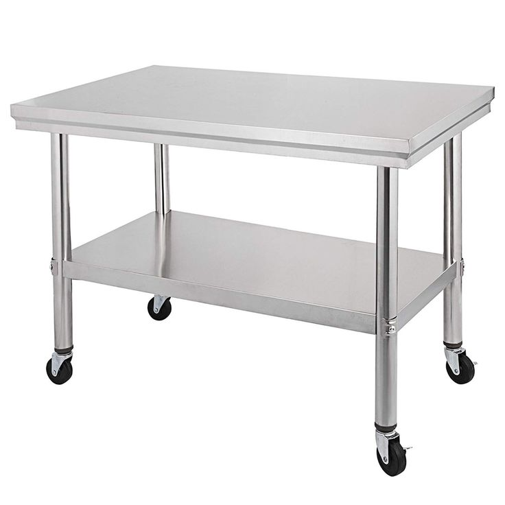 Amazon.com: Mophorn Stainless Steel Work Table with Wheels ...