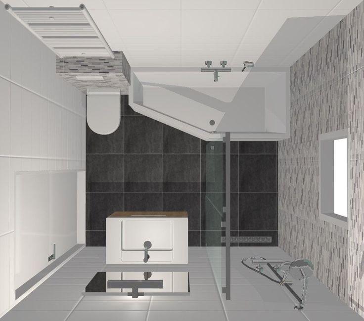 10 beste idee n over kleine badkamer indeling op pinterest - Hoe amenager een kleine badkamer ...