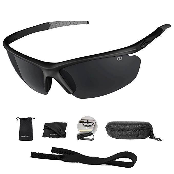 1fe6f75a794ca Polarized UV400 Sport Sunglasses Anti-Fog Ideal for Driving or Sports  Activity (Black