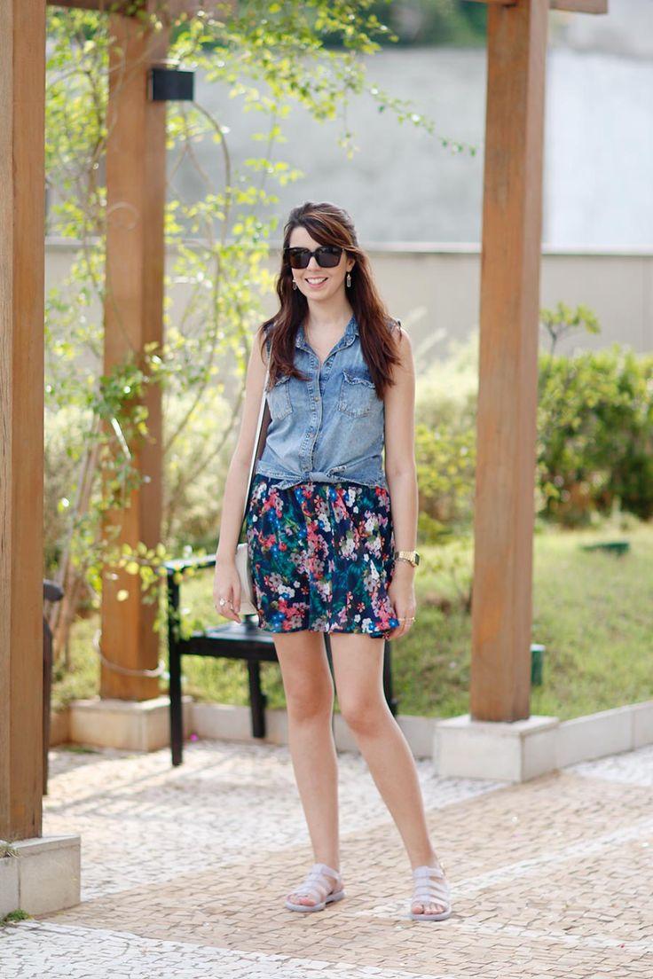 Look do dia: Jeans e flores | Just Lia