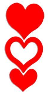 Triple Heart Stickers