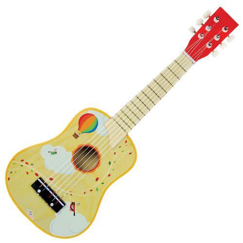 Κιθάρα ξύλινη παιδική Nota. Το υλικό κατασκευής της είναι από ξύλο, είναι ελαφριά σε βάρος και διαθέτει πένα και έξτρα χορδή.