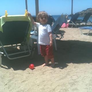 On the beach!!!