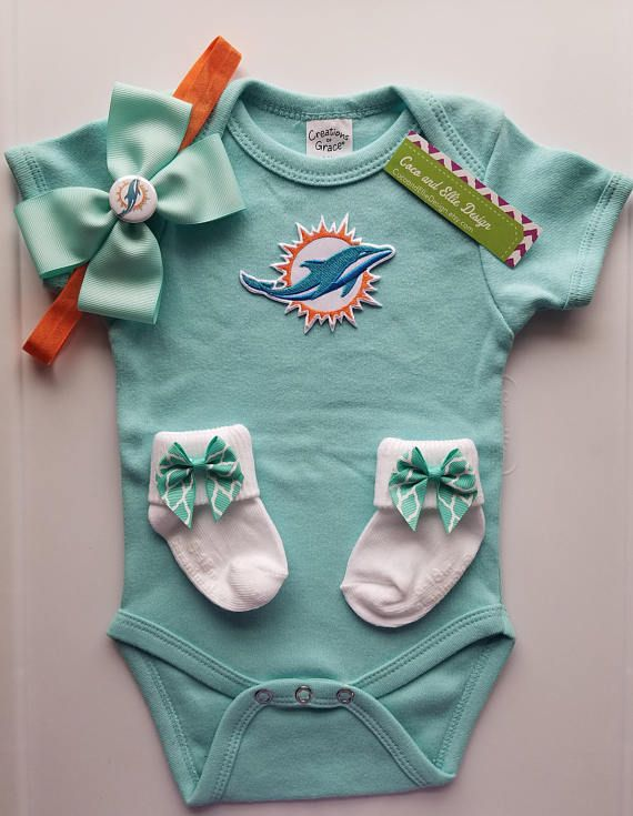 bd5c62eb Miami Dolphins baby outfit/baby miami dolphins/miami dolphins girl ...