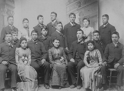 Graduating Students, Carlisle Indian School (1890)