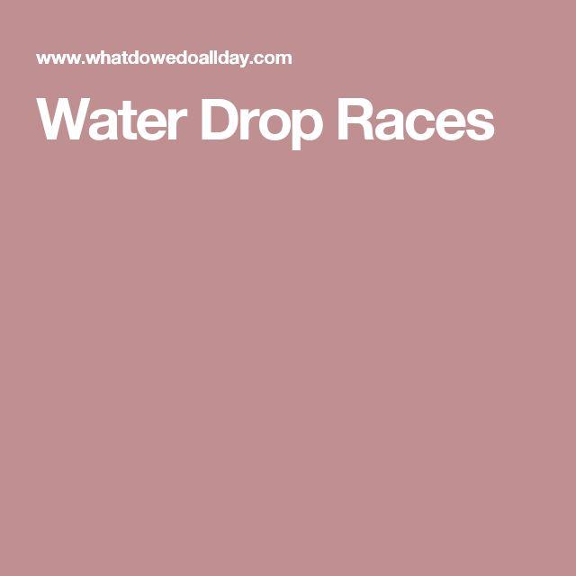 Water Drop Races
