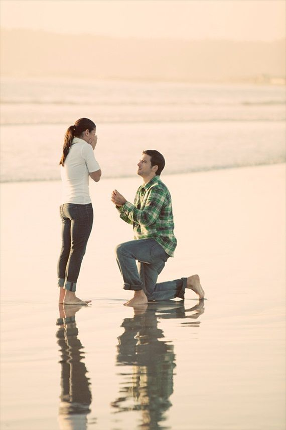 surprise proposals caught on camera beach