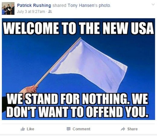 75+ more questionable posts by Airway Heights Mayor Patrick Rushing - rasist scumbag https://www.facebook.com/pdrushing