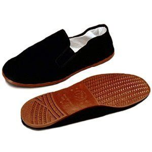 Kid's Size 11/ 28 Kung Fu / Tai Chi Cloth Shoes by whitedove. $9.99. Rubber Sole Kung Fu shoes. Slip on style make these shoes great for street or studio Rubber soles. Canvas upper. Cotton lining. Available in Black. These are for school age children maybe around age 4 or 5 , those ages.