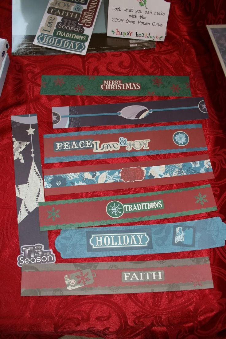 How to scrapbook a holiday - Open House Item Borders