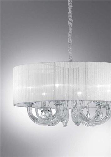 Swan, lampadario con corpo luce in vetro soffiato lavorato a mano