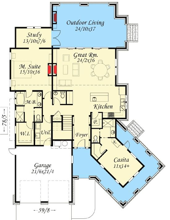 17 best images about small house plans on pinterest for Tuscan home plans with casitas