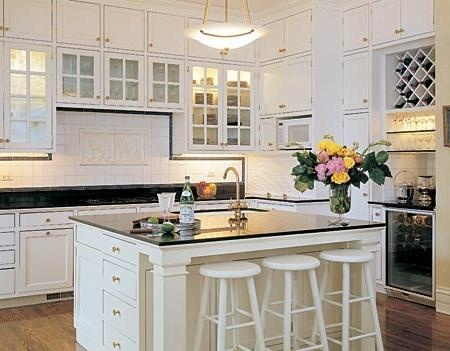 White Cabinet Kitchen Picture