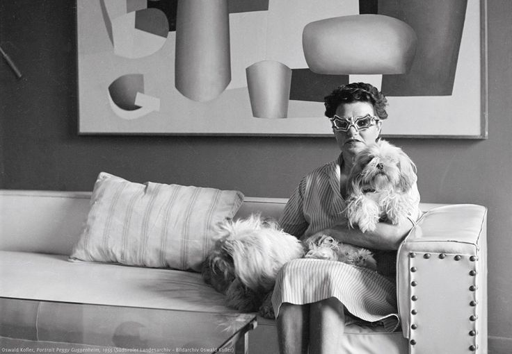Portrait of Peggy Guggenheim, 1955. she absolutely LIVED FOR ART! A new film, something like,'Peggy Guggenheim, Art Addict': to be released early 2016 in US. PH