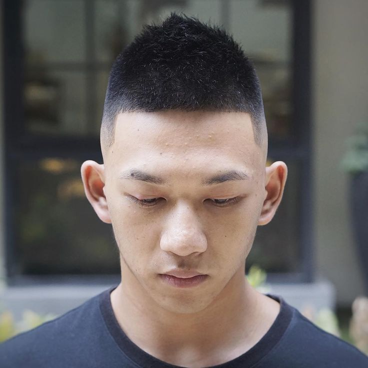 Chinese man hard part with front of mohawk asian men