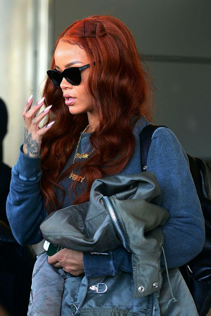 Rihanna's long red hair #rihanna #longhair