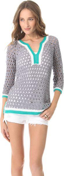 ¿Que tal nos veríamos con esta blusa en crochet.?