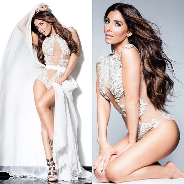 @Melissa Molinaro looks amazing in this white lace body suit With silk chiffon waist wrap. Also available in black. Email VALERIECOSTELLO8@gmail.com for order info - @michaelcostello31- #webstagram