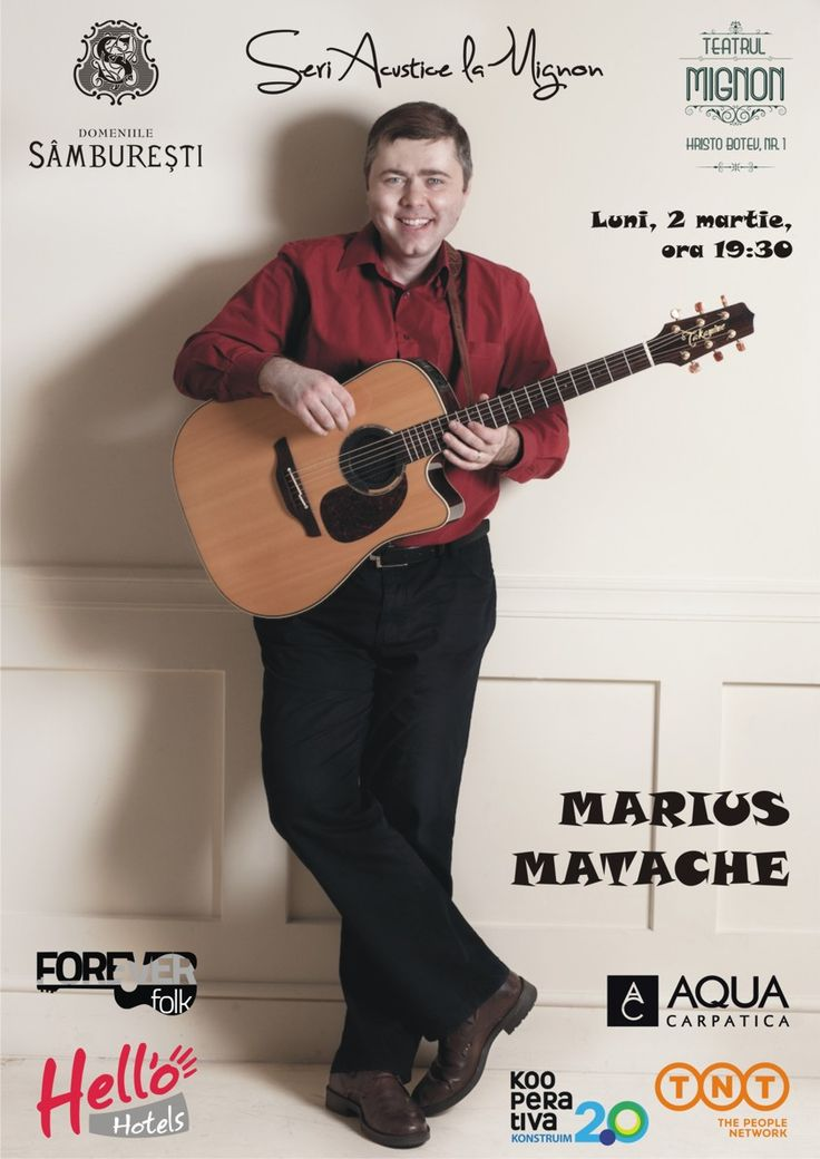 """Pe 2 martie ne vedem la Mignon pentru spectacolul """"Martisoare Muzicale la Mignon""""."""