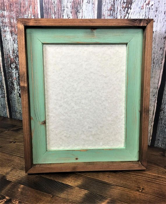 85 X 11 Mint Green Rustic Weathered Stacked And Stained Picture
