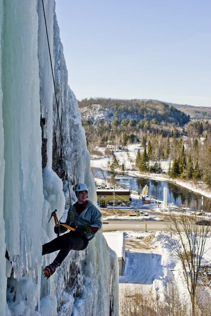 Ice climbing at Eagle's Nest in Bancroft. The Eagles Nest is less than an hour from the Resort.. bring your gear!