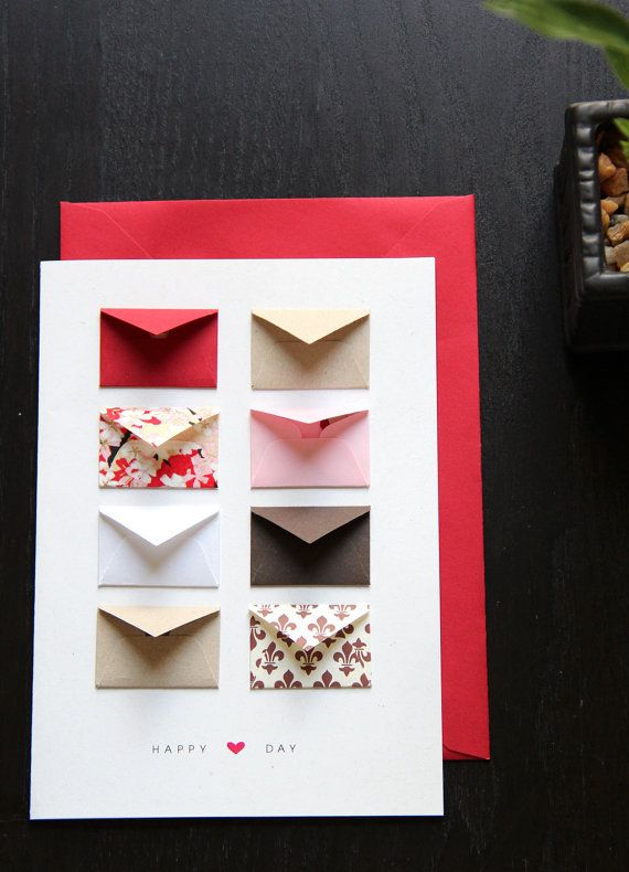 Ca-ute. Valentine Card  Tiny Envelopes with Custom by LemonDropPapers, $6.00