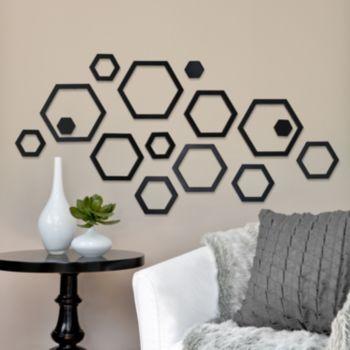 Shanna Hexagons Wall Decor Set
