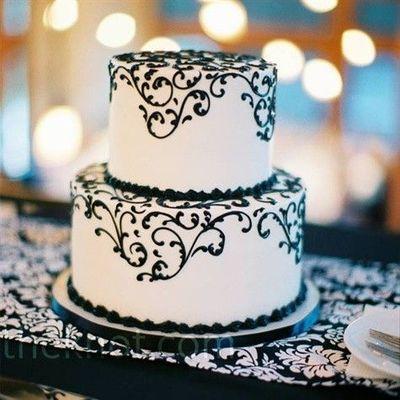 Black Swirl Cake Cake Black And White