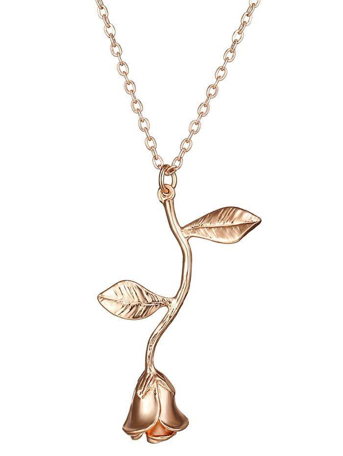 Alloy Rose Flower Pendant Necklace Flower Pendant Necklace Star Pendant Necklace Cheap Necklaces