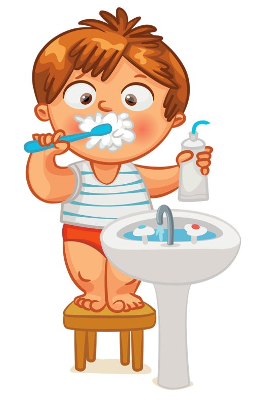 clip art kid brush teeth clock time pinterest brush teeth rh pinterest com brush your teeth clipart clipart child brushing teeth