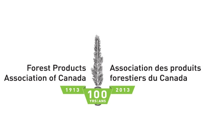 This logo design was developed for the Forest Products Association of Canada to celebrate their 100th Anniversary.  http://www.cyansolutions.com/work/services/corporate-identity #ottawa #marketingottawa #marketing #design #logo #logodesign #web #print